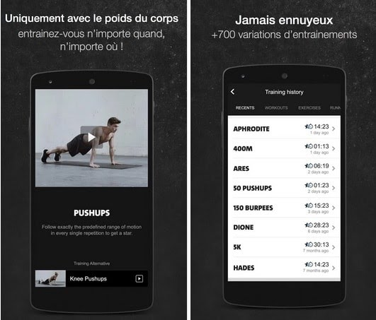 Application mobile Freeletics