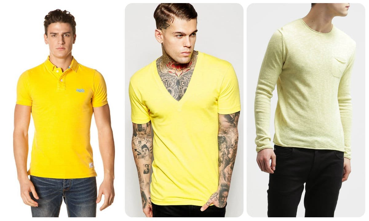 Polo, tee-shirt ou pull jaune