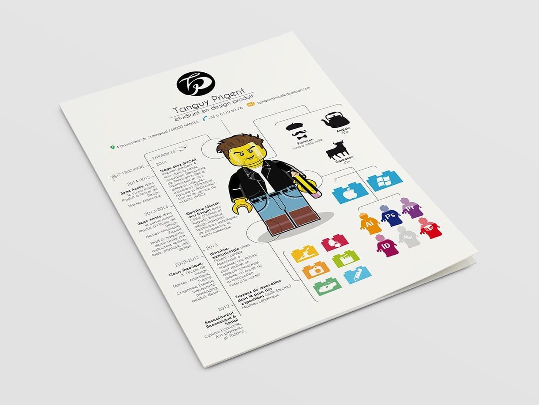 CV original en Lego par Tanguy Prigent
