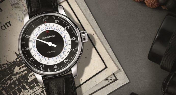 MeisterSinger Adhaesio GMT : une aiguille autour du monde