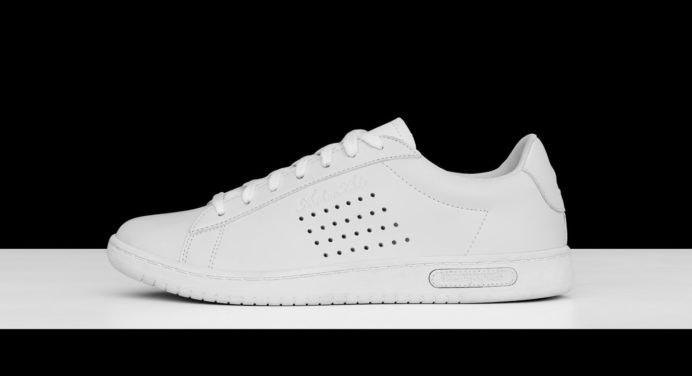 Baskets Le Coq Sportif : un look 100 % noir et blanc