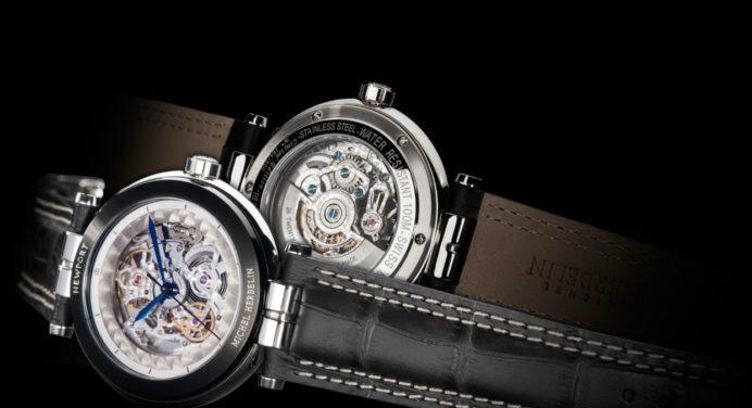 Newport Yacht Club Squelette de Michel Herbelin : une montre à découvert