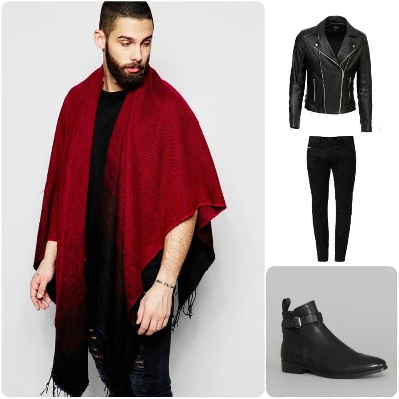 Look masculin-féminin avec une cape