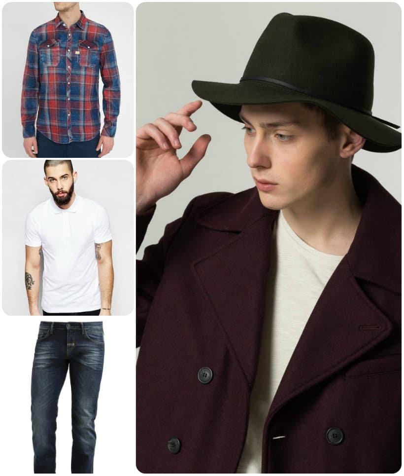 Look masculin-féminin avec un chapeau