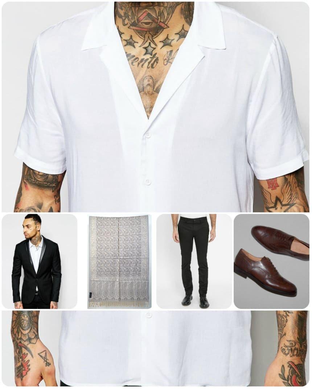 Look masculin-féminin en noir et blanc