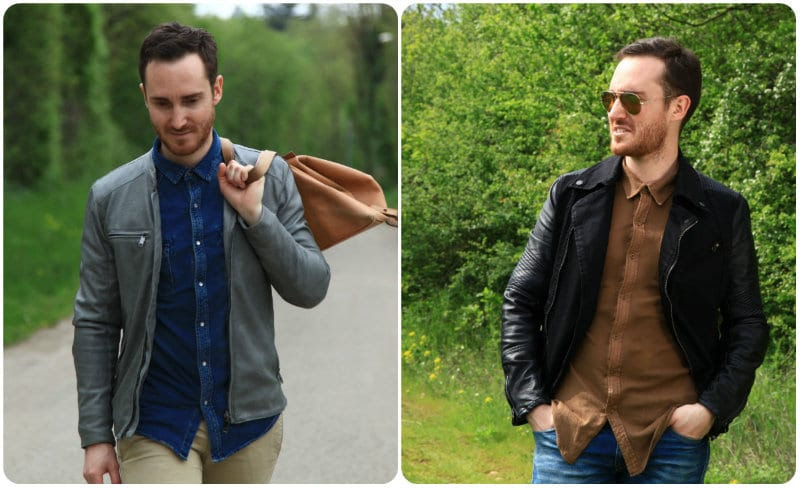 Deux façons de porter son Perfecto en cuir avec Nicolas