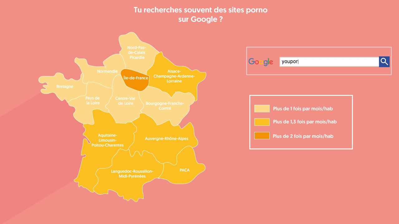 Recherche de sites porno en France