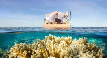 Une maison flottante somptueuse sur la Grande Barrière de corail