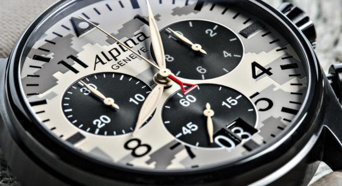 Alpina Startimer Camouflage Chronograph : du militaire qui ne manque pas de style
