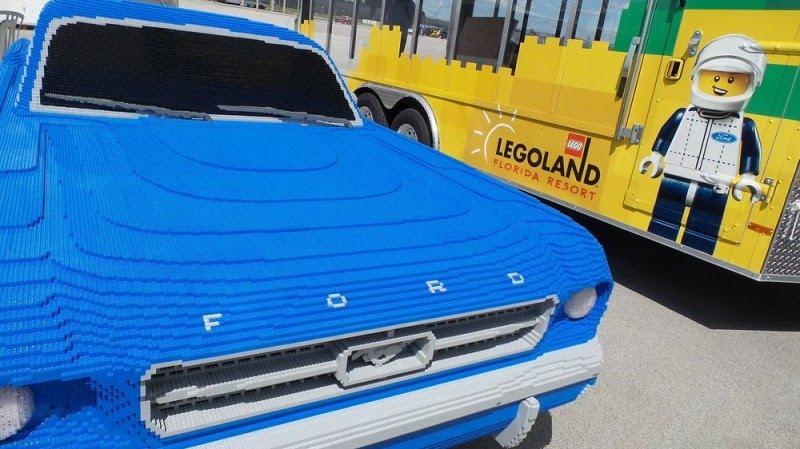 194 900 briques Lego ont été nécessaires pour construire cette Ford Mustang