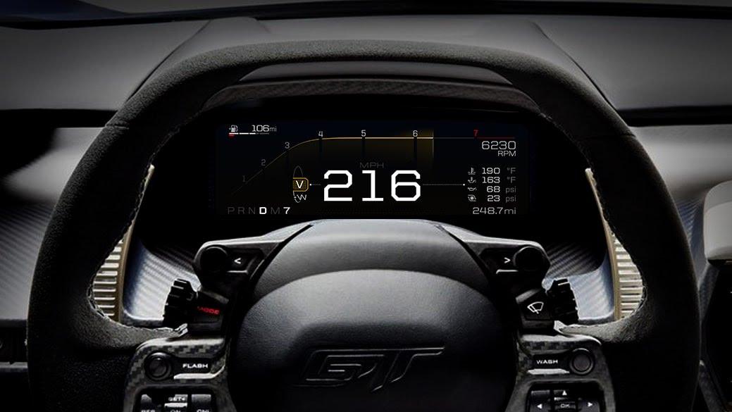 Intérieur de la nouvelle Ford GT