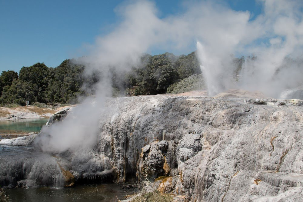 Geysers de Rotorua en Nouvelle-Zélande
