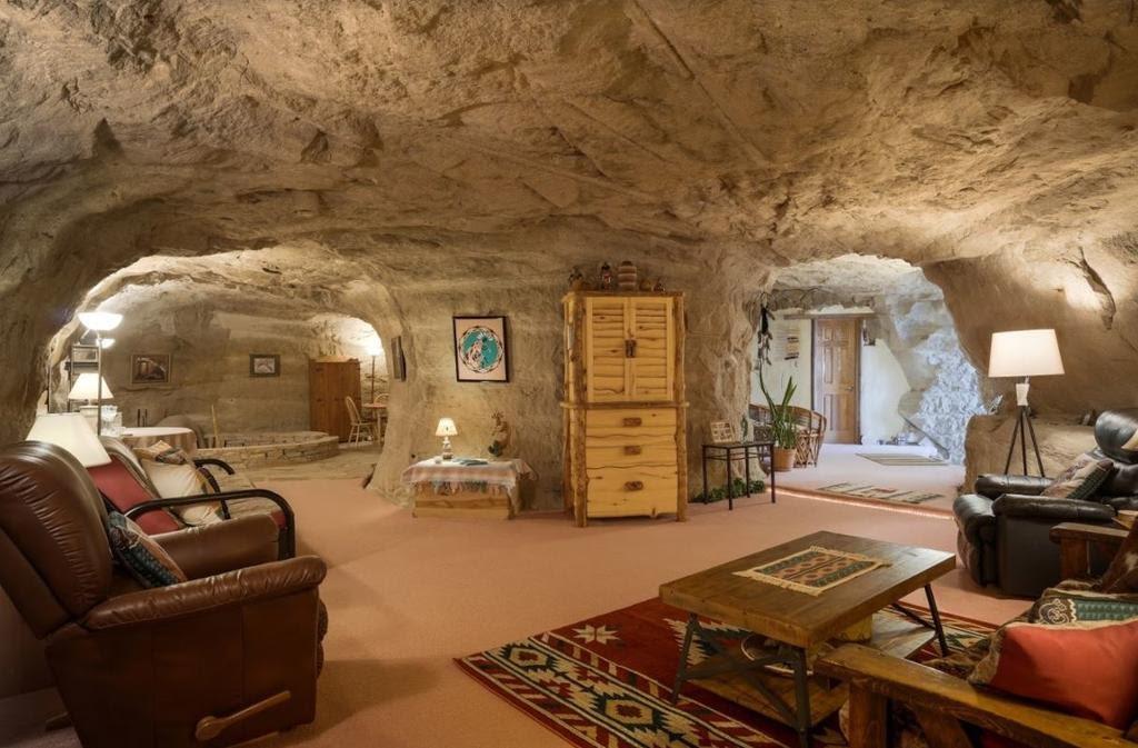 Kokopelli's Cave : une maison troglodyte au Nouveau-Mexique