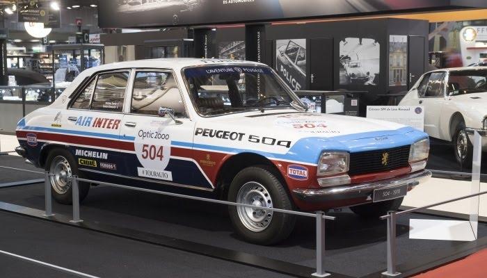 Peugeot 504 au Tour Auto 2018