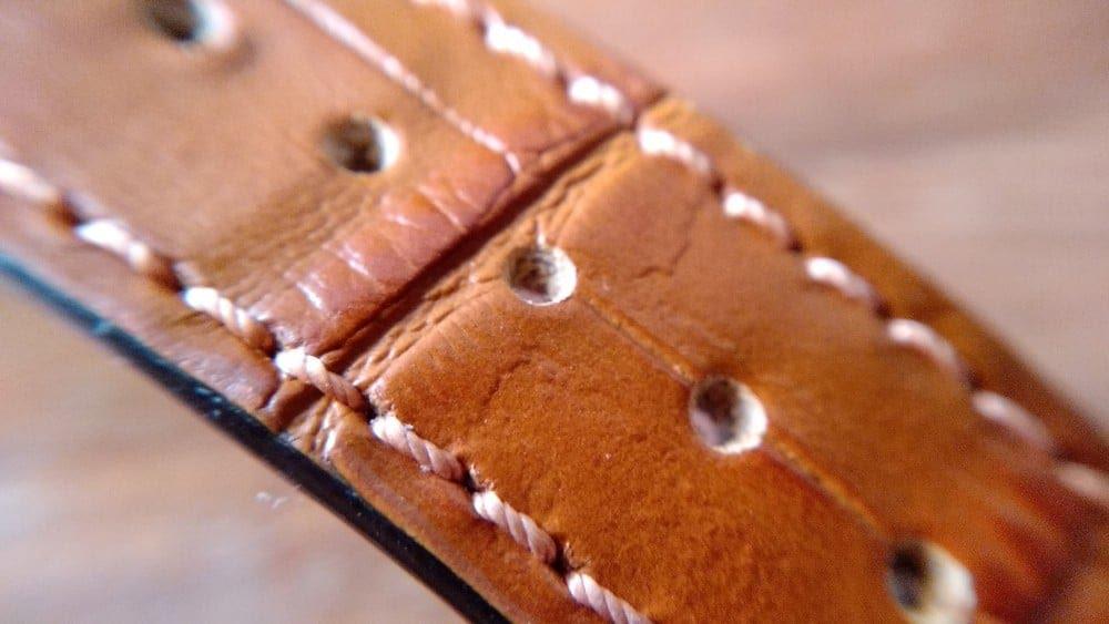 Montre MeisterSinger Lunascope - bracelet en cuir cognac