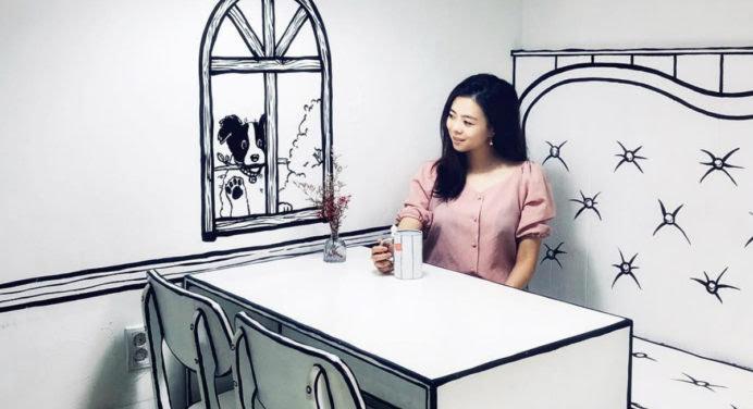 Un café insolite dans un décor de BD à Séoul