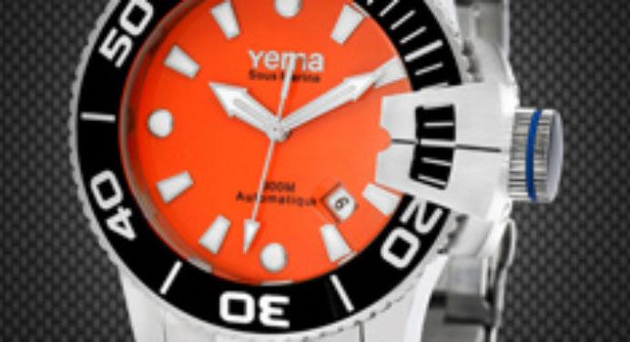 Montre Yema Sous-Marine : plongée haute en couleur
