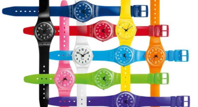 Les montres Swatch voient la vie en couleurs