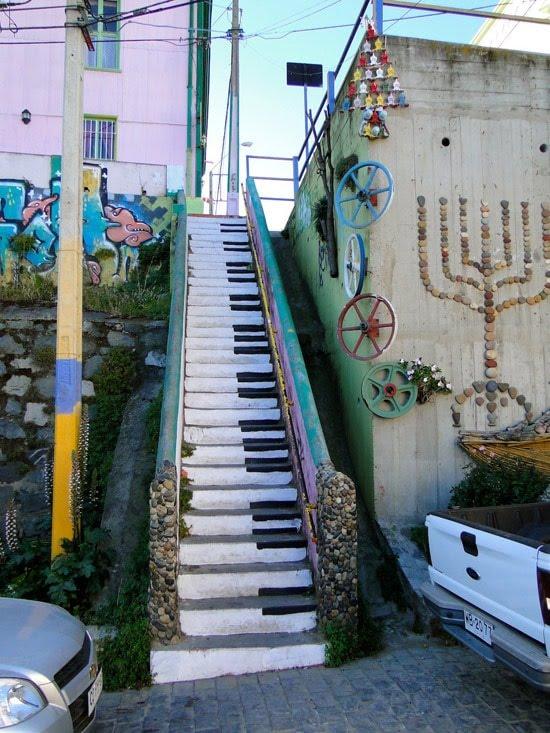 Street Art - Escalier piano