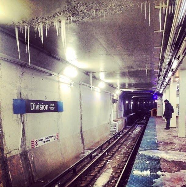 Vague de froid aux USA - dans le métro