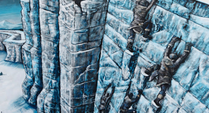 Game of Thrones: un Mur géant en street-art à Londres
