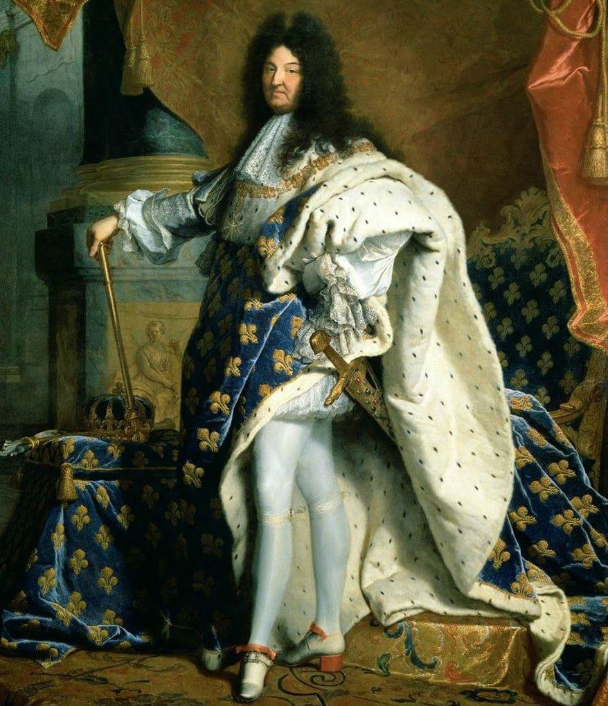 Louis XIV en collants...